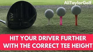 HIT YOUR DRIVER FURTHER WITH THE CORRECT TEE HEIGHT.