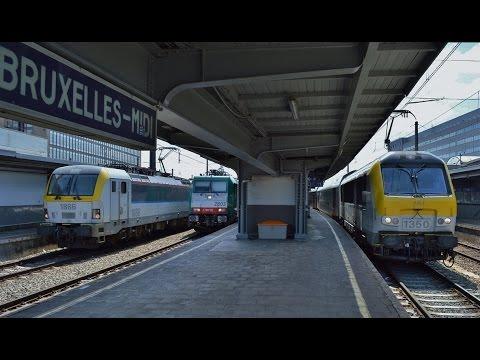 Treinen in Bruxelles-Midi (Brussel Zuid) - 17 juli 2015
