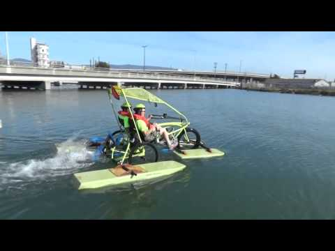 Amphibious Trike on the Alameda/Oakland estuary