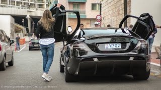 Hot girl driving in a SLR Mansory Renovatio and making a powerslide | Top Marques 2015