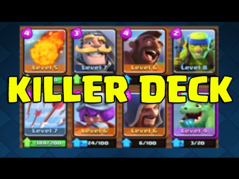 Clash royale killer deck very effective and cheap for Deck pekka arene 6