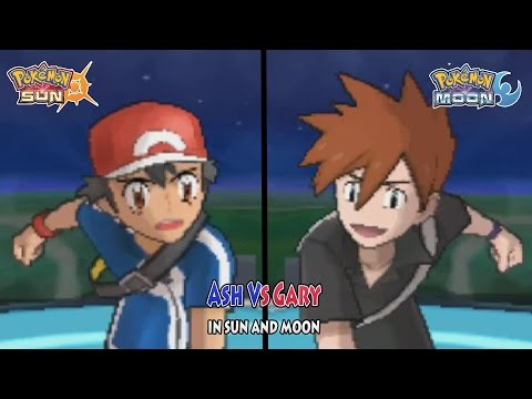Pokemon Sun and Moon: Ash Vs Gary (XYZ Ash Vs Rival Gary)