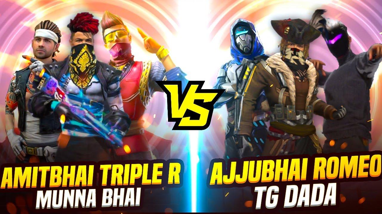 Team AmitBhai VS Team Ajjubhai 3v3 Clash Squad || Ft. @Mr. Triple R @Romeo Gamer @Munna bhai gaming