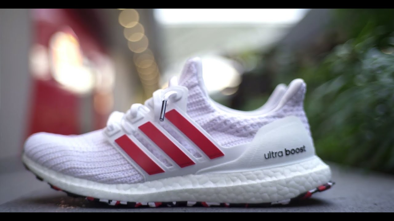 buy popular ef157 5c06a Adidas Ultra Boost 4.0 Active Red Cloud White Review and On Feet