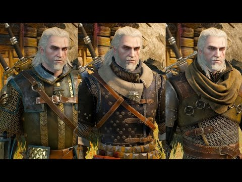 The Witcher 3 Wild Hunt - All Witcher Gear Sets Showcase
