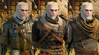 The Witcher 3 Wild Hunt - All Witcher Gear Sets Showcase (Looks & Stats)