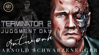 Arnold Schwarzenegger | Terminator 2 Judgement Day Digital Painting