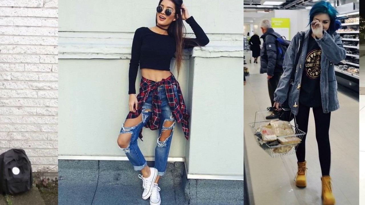 34da600e08d Outfits Tumblr Grunge!! 2017!! - YouTube