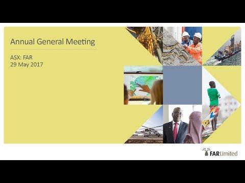 2017 FAR Ltd AGM Presentation
