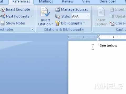 How to show notes in Word
