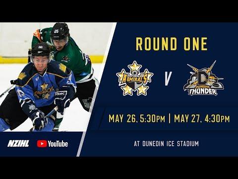 NZIHL 2018   Round 1 Game 4: West Auckland Admirals v Dunedin Thunder - May 27