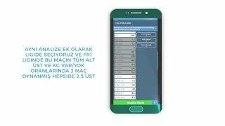 Oran Analiz Kullanımı ve Örnek Analizler (Türkiye'nin en gelişmiş mobil oran analiz programı)