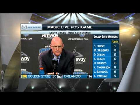 Scott Skiles -- Orlando Magic vs. Golden State Warriors 02/25/2016