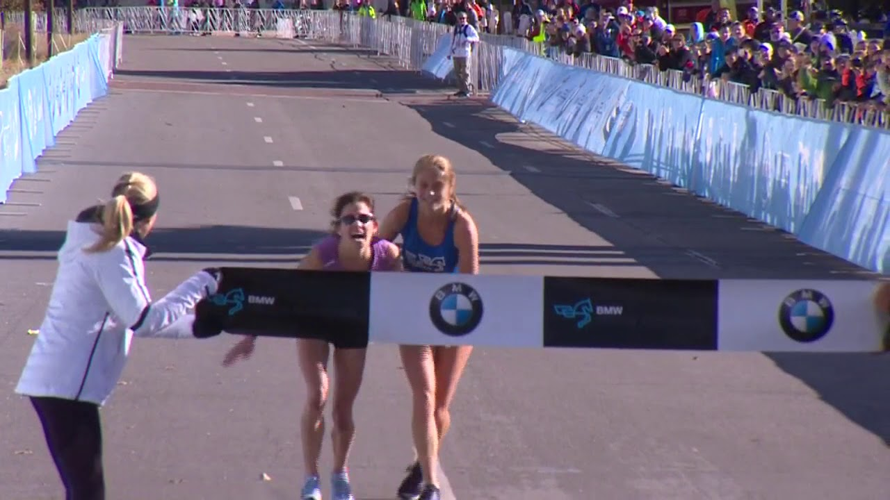 Watch Winner In Women S Finish At The Bmw Dallas Marathon Falls To The Ground Youtube