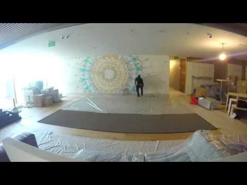 Pure Yoga Singapore - Asia Square Tower : Making of the Artwork