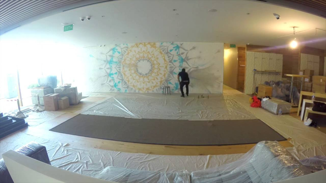 Pure Yoga Singapore Asia Square Tower Making Of The Artwork Youtube