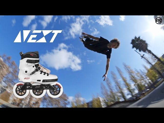 Powerslide Next 125 Inline skates - Megacruising Barcelona with Nick Lomax