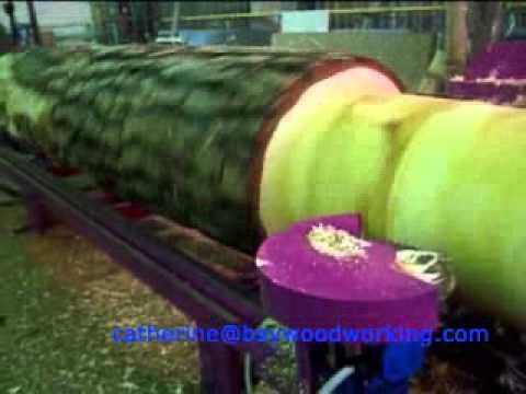 log lathe _Log cylindrical turning machine