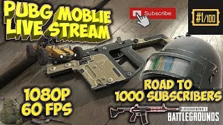 PUBG MOBILE - PC - 🔴Live Stream - High Kill Gameplay - Road to 1k subs - (English) Tencent Emulator