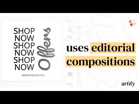 Create and use editorial compositions for your designs.