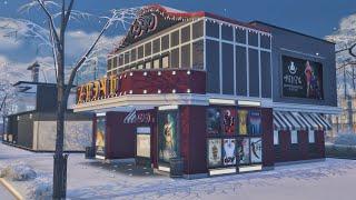 the Sims 4 Строительство: Кинотеатр