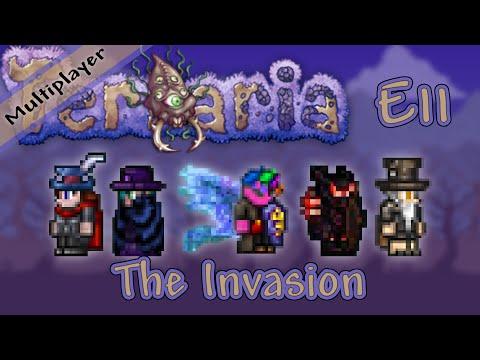 Terraria 1.3 Multiplayer Expert Mode - Ep. 11 - The Invasion