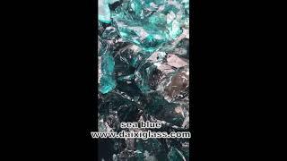 sea blue glass rocks raw materials
