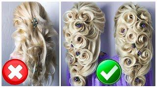 ПРИЧЕСКИ. Свадебная Прическа на Длинные волосы. Греческая Коса из Цветов. New Wedding Updo ©LOZNITSA