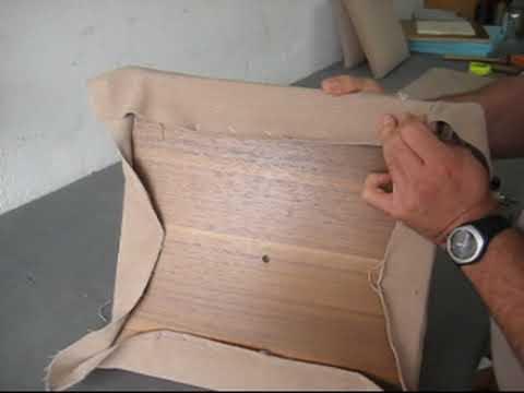 Tapiceria de asiento de silla. clases - YouTube