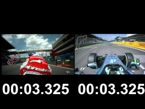 Formula 1 vs MotoGP: 300 - 350 km/h Acceleration Top Speed