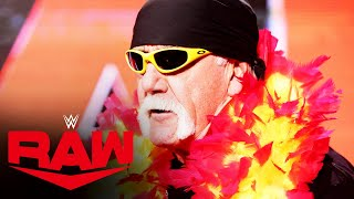 Hulk Hogan welcomes the WWE Universe to Raw Legends Night: Raw, Jan. 4, 2021