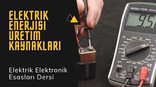 Elektrik Elektronik Esasları Ders 1: Elektrik Enerjisi Üretim Kaynakları