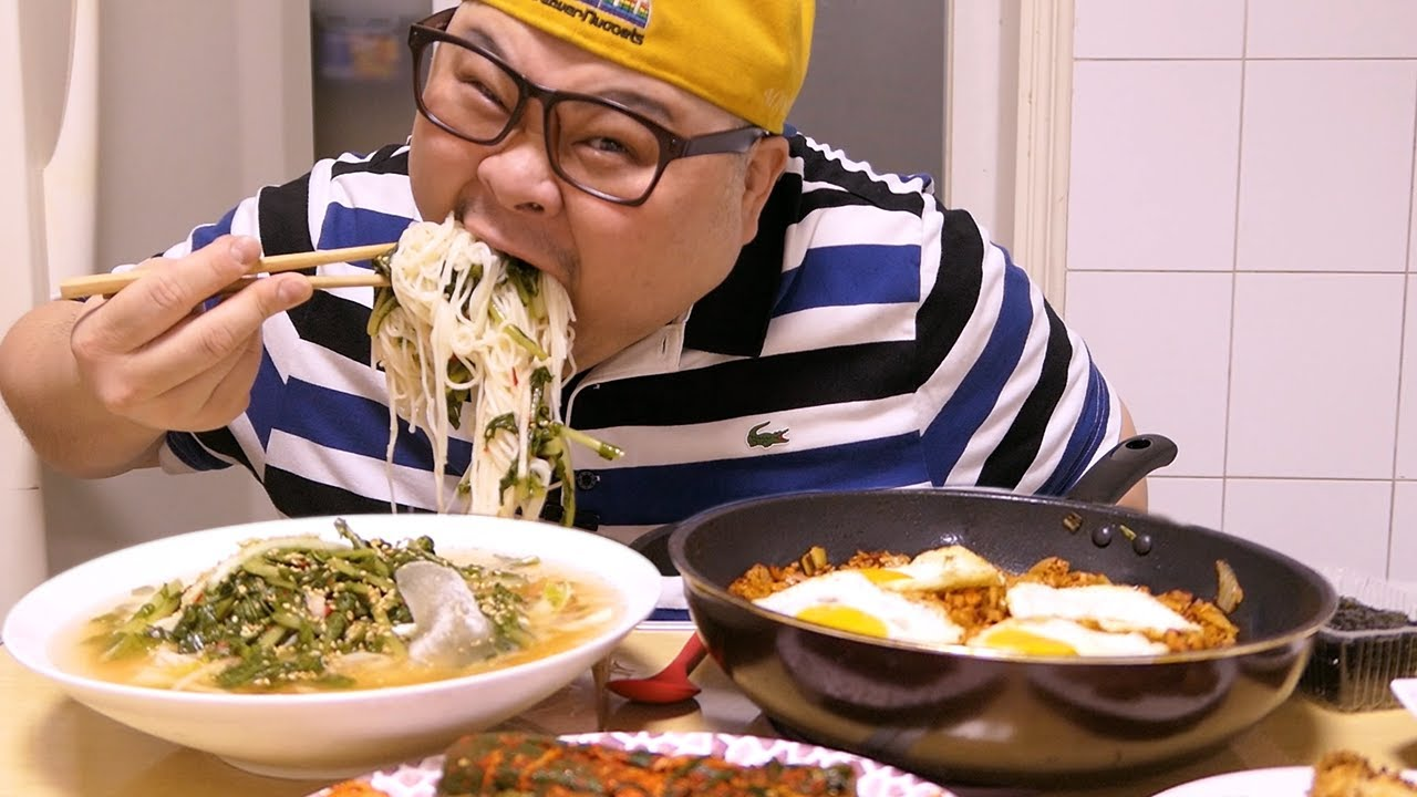 「혼밥 가이드」 김치볶음밥, 열무국수│김볶~나는 정말 잘만든다ㅋ😍Mukbang Eatingshow [ Kimchi Fried Rice, Noodles, Spicy Crab ]