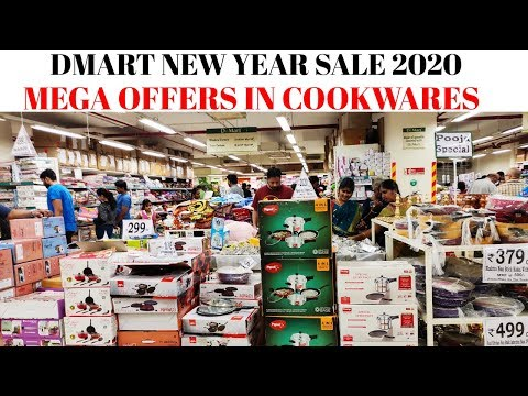 50% Discount in DMART| DMART New Year Mega Sale 2020| 50% Discount in Kitchen Cookware Sets| Cookers