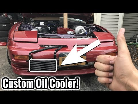 CHEAP DIY 240SX OIL COOLER!