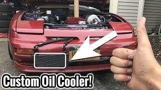 CHEAP DIY 240SX OIL COOLER!