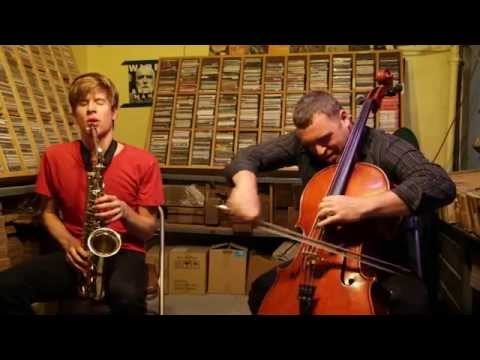 Chris Pitsiokos & Daniel Levin - at Downtown Music Gallery , NYC - Sep 20 2015