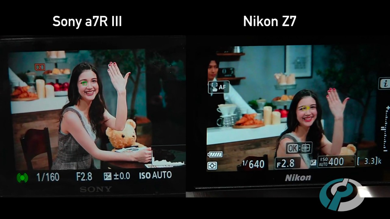 Nikon Z7 Eye Detection AF compared to Sony a7R III by DPReview com