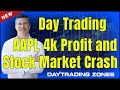 Day Trading AAPL 4k Profit and Stock Market Crash 2018
