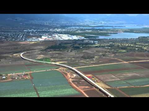 Honolulu Rail Construction Progress - April 2015