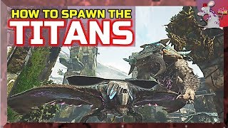 ARK Extinction First Look DESERT ICE TREE Titans How To Spawn Using Admin Commands