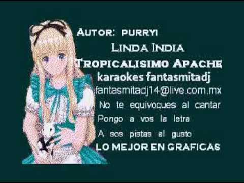 LINDA INDIA  TROPICALISIMO APACHE karaoke full