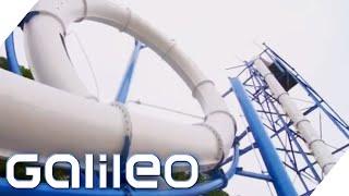 Erste vertikale Looping-Wasserrutsche | Galileo | ProSieben