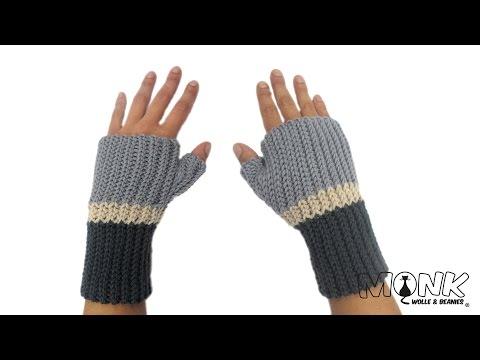 Handstulpen häkeln – Farbwechsel – Bosnisch häkeln