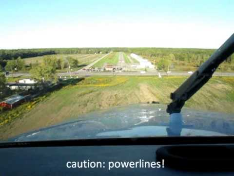 King Air 200 landing - short runway with obstacles