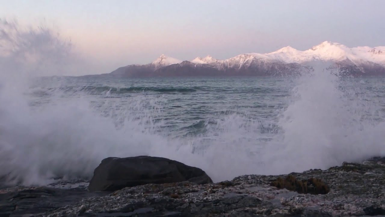 Kjerringoy, Northern Norway, Winter above the arctic circle. (watch in HD)