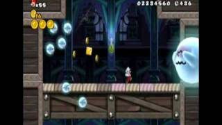 New Super Mario Bros. Wii - World 3-Ghost House (All Star Coins)