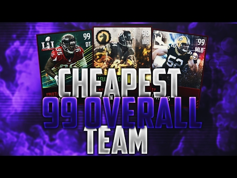 THE CHEAPEST WAY TO HIT 99 OVR IN MADDEN MOBILE!! SAVE MILLIONS WITH THIS INSANE SQUAD BUILDER!