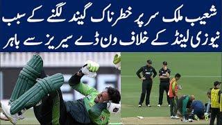 Dangerous Ball Hit Shoaib Malik on Head - 4th ODI vs New Zealand 2018