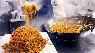 23人分の香港炒麺を一気に作る調理動画【まかない】 Fried Noodles Hong Kong style